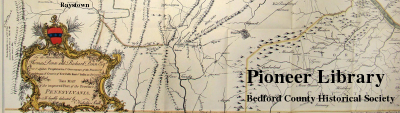 Bedford County Historical Society Map